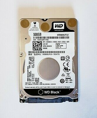 "Cxkck Dell Western Digital 500Gb 7.2K Sata 2.5"" Thin Laptop Hdd Wd5000Lplx"