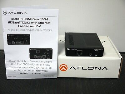 Atlona AT-UHD-EX-100CE-RX 4K/UHD HDMI Over HDBaseT Receiver with Control and PoE