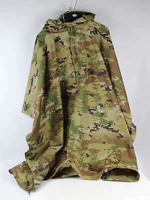 New Multicam OCP Ripstop Nylon Hooded Waterproof Military Army Poncho