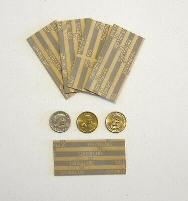 250 Presidential Dollars Coin Wrappers  Sacagawea Dollar Paper Coin Wrapper