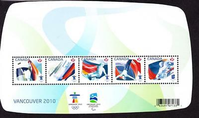 Canada MNH 2009 souvenir sheet sc# 2299 Olympic Sporting Events