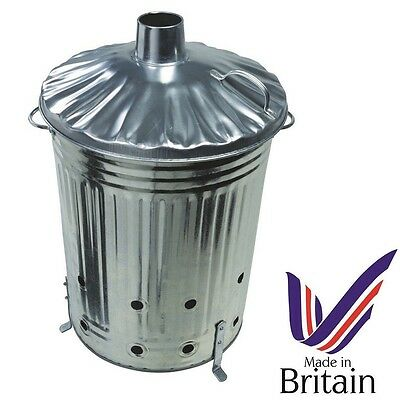 Large 90L Garden Incinerator Burning Fire Bin Rubbish Paper Leaves Branch Burner