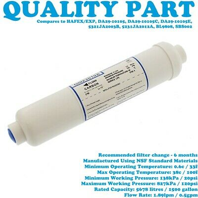 SAMSUNG RS2577BB RS2577SL RS2577SW Fridge Freezer Replacement Water Filter