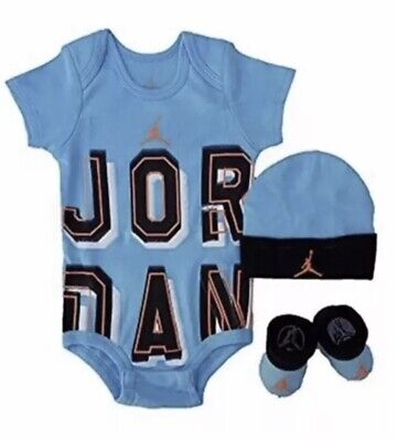7102f91d5 AIR JORDAN INFANT Boy 3 Piece Bodysuit, Pants & Hooded Jacket Set ...