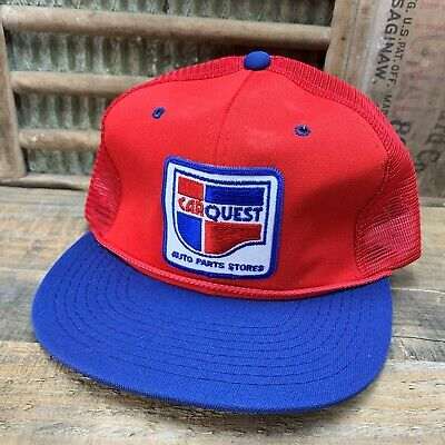 Quest Auto Parts >> Vintage Car Quest Auto Parts Store Mesh Snapback Trucker Hat Cap Patch