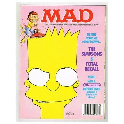 Mad Magazine December 1990 MBox3633/I The Simpsons - Total Recall