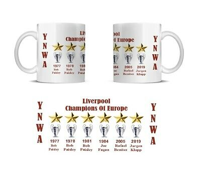 Liverpool Football Club's SIX European Cups year and manager's name