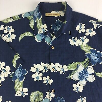 6ef1be6d7 Tommy Bahama Hawaiian Shirt Mens XL XLarge Short Sleeve Button Front Floral