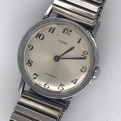 Timex Vintage Watch Hand Manual Wind 33,7 mm Non Working MAG2 Great Britain
