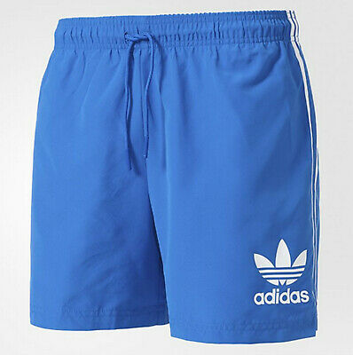 Mens Adidas Originals CLFN California swim shorts blue 3 stripes M, L NEW Summer