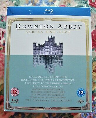 Downton Abbey Series 1-5 Boxed Set - Blu-ray Discs - Very Good Used Condition