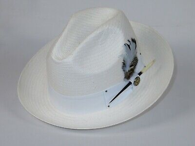 "BRUNO CAPELO NEW PINCH FRONT MEN/'S SUMMER SINAMAY HAT APPROXIMATELY 2 1//4/"" Brim"