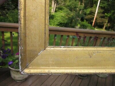 c1840 Beautiful EARLY AMERICAN SULLY Style Water Gilded Antique 11 x 15 Frame