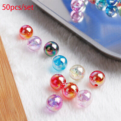 Mixed color Bracelet Loose Spacer Beads  Jewelry Making With Hole Acrylic Bead