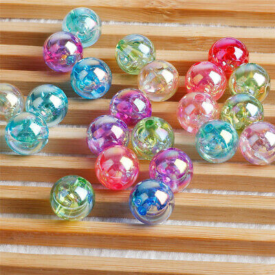 Bracelet Loose Spacer Beads  With Hole Acrylic Bead Jewelry Making For 50pcs