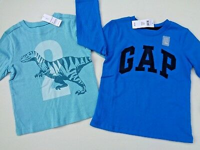 NWT Lot of 2 Baby Gap Old Navy T-shirt shirt Graphic Tee for toddler SZ 2T Boys