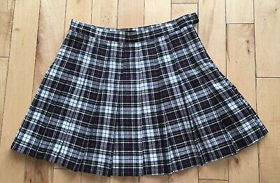ad83424888 AMERICAN APPAREL PLAID Pleated Tennis Girl Skirt Matilda Red Navy ...