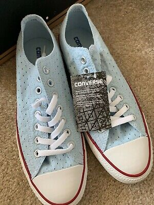 NEW CONVERSE WOMENS CT OX Fountain Blu 547694F Size 11