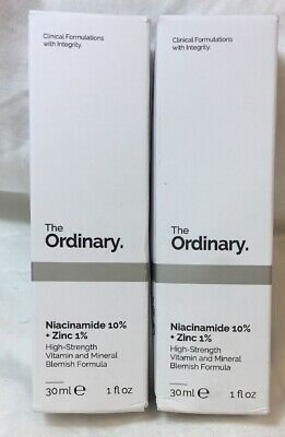 2 PACK - THE ORDINARY Niacinamide 10% + Zinc 1% - 30ml