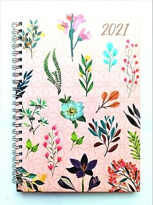 2020 A5 Week to View Spiral Bound Diary Hardback Wiro Cover Office School-Rainbo