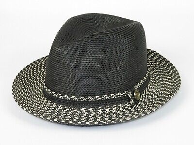 "MEN/'S BRUNO CAPELO HATS MONTELL UNTOUCHABLE FEDORA POLYWOOL 2/"" SNAP BRIM NEW"