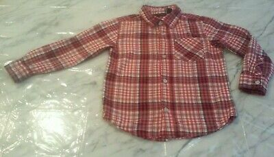 Toddler Boy's Tommy Hilfiger Long Sleeve Red White & Blue Button Up Shirt 5/5T