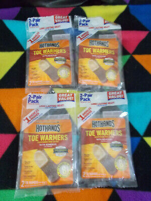 Hothands Toe Warmers, Lot of 4, Twin Packs, NEW, Exp 09/21, Adhesive