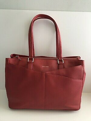 f8ef5e99b35 Cole Haan RARE Red Leather Tote Work Bag American Airlines Purse Carryon  Large