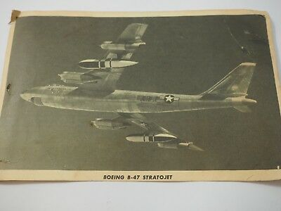 "1950's Boeing B-47 StratoJet Print Photo 6"" x 9"""