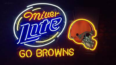 f0c05b3a CLEVELAND BROWNS NFL Football Neon Bud Light Beer bar sign Man Cave ...