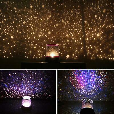 LED Star light Romantic Starry Night Sky Projector Lamp Cosmos Master Kids Gift