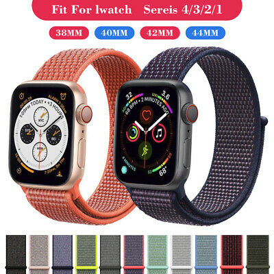 Woven Nylon Sport Loop Band Strap For Apple Watch Series 1/2/3/4 38 40 42 44mm