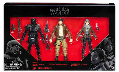 Star Wars Rogue One Black Series 6 Inch Figure 3 Pack Andro, Death Trooper, Erso