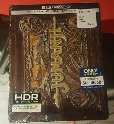 Jumanji - Best Buy Exclusive Steelbook (Blu-ray + 4K UHD) BRAND NEW!! Ultra HD