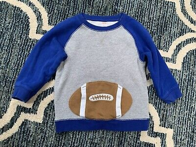 Gymboree Blue Top Toddler Baby Boy Size 4T 5T Football 🏈
