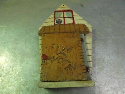 Vintage Wooden Folk Art Door Note Keeper