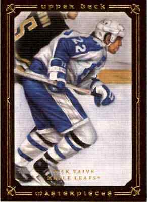 2008-09 Upper Deck Masterpieces Black Rick Vaive Toronto Maple Leafs #40