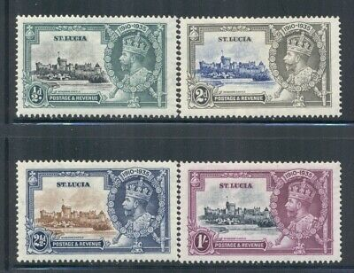 ST. LUCIA 91-94 SG109-12 MH 1935 KGV Silver Jubilee Issue set of 4 Cat$16
