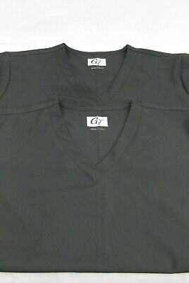 f8f75f2d06a Pair of (2) GT PERFORMANCE SCRUB TOP BLACK V-NECK SIZE XL Style