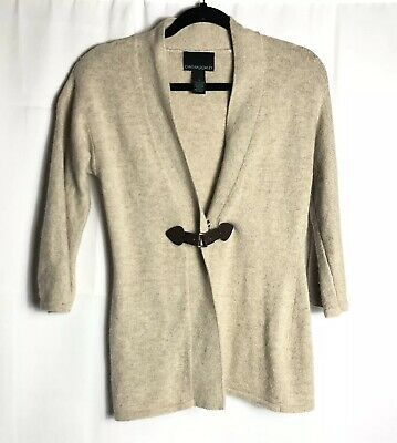 8d0bbe5d7ec CYNTHIA ROWLEY WOMENS button clasp front cardigan sweater size small angora  blen