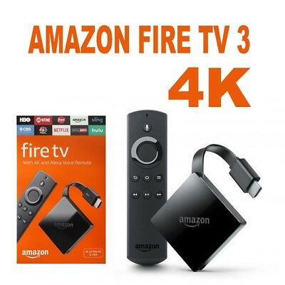 Amazon Firestick with 4K Ultra HD and Alexa Voice Remote Black, 3rd Generation