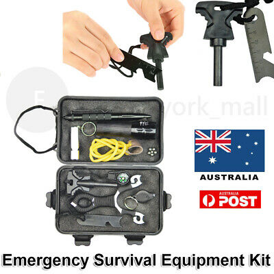 Emergency Survival Equipment Kit Camping Hiking Tactical Tool Set Outdoor NEW AU