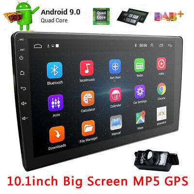 """10.1"""" Android 8.1 2 DIN Quad-Core Car GPS Stereo No DVD Player Wifi BT Radio+Cam"""