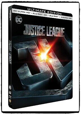 Justice League Blu-ray 4K + 2D + 3D Steelbook Limited Edition FNAC 2017