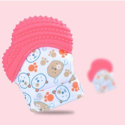 ST03 Baby Teething Mittens Soothing Pain Relief Mitt Stimulating Teether Toy G