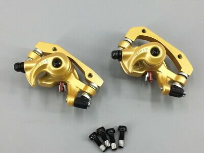 SEAGULL MTB Mountain road bike Bicycle Disc Brake Calipers Front Rear Set Gold