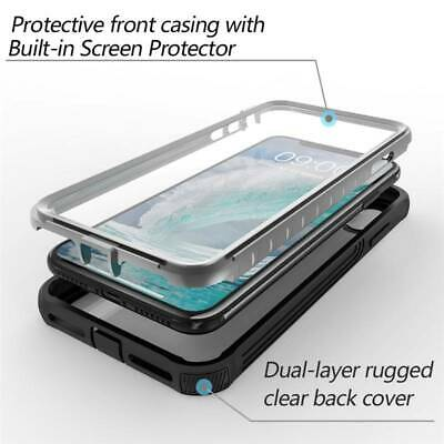 For iPhone XS Max XR X XS 11 6 6S 7 8 Plus Case Clear Cover W/ Screen Protector