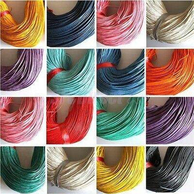 1-10m Waxed Cotton Beading Cord Thread 2mm dia Jewelry Making String(YC2mm)