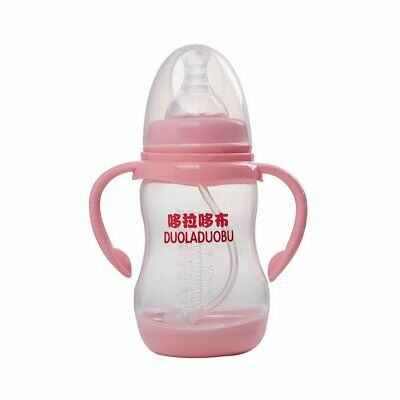 Thermometer Wide Caliber Bottle Newborn Automatic Straw PP Bottle 240ml G