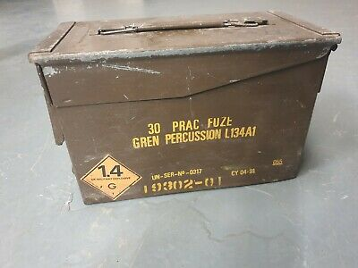 Genuine British Army 50 Cal Ammo Box Tin Ammunition Storage Military Surplus UK